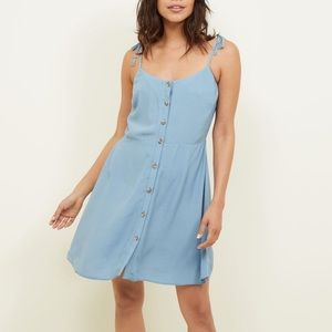 New Look Tie Strap Dress Buttondowm